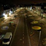 Breestraat Beverwijk bij nacht van Vuuren